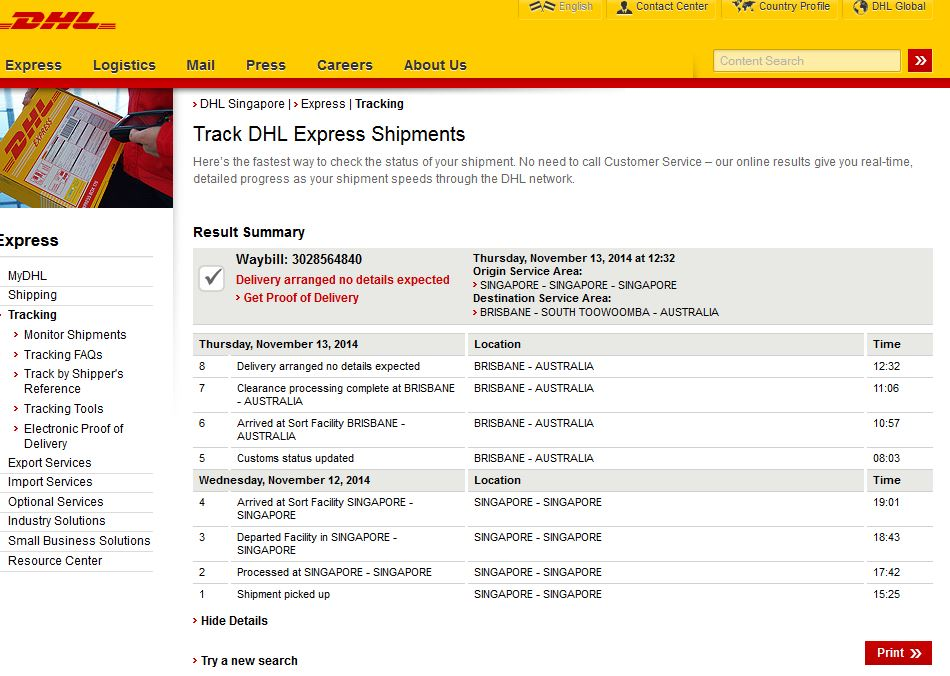 Delivery information - Singapore post office tracking number ...